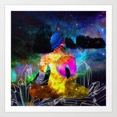 Space Yogi Art Print