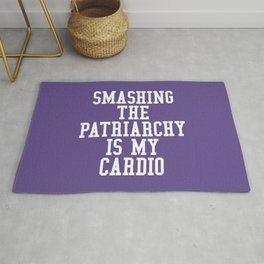 Smashing The Patriarchy is My Cardio (Ultra Violet) Rug