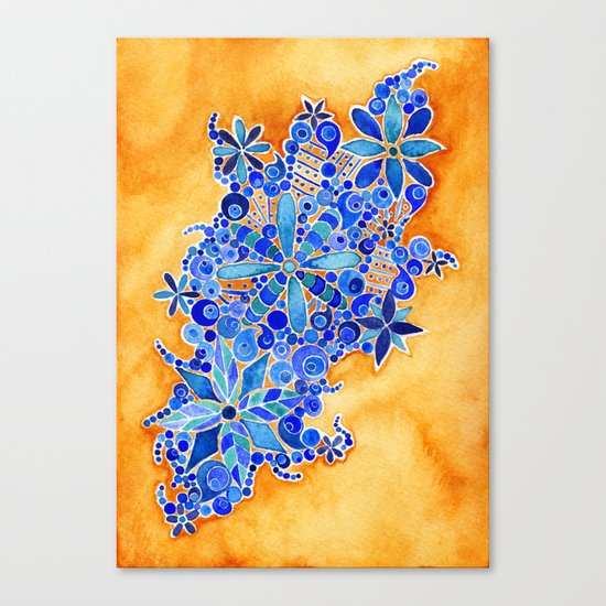 Blue Bouquet Canvas Print