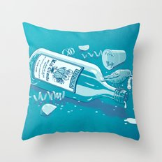 The Late Party Bird Gets the Worm Throw Pillow