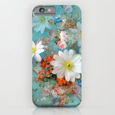 romantic flowers and butterflies iPhone 6 Slim Case
