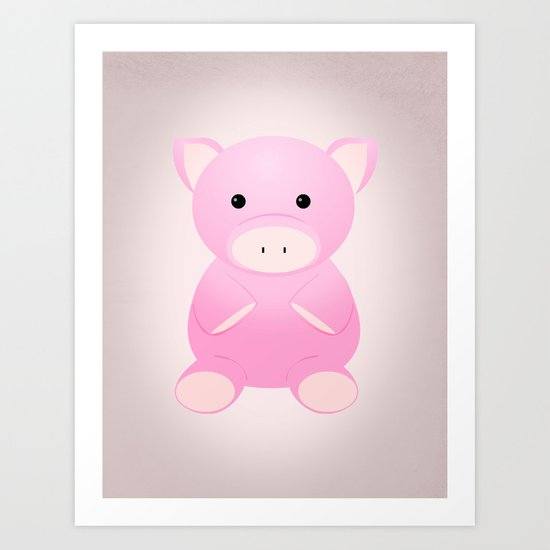 THINK PIG Art Print