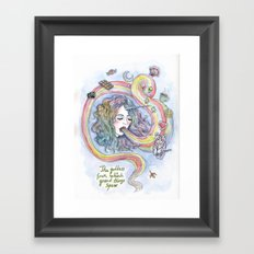 The Goddess From Which Grand Things Spew Framed Art Print