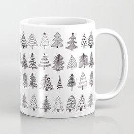 Christmas trees doodles Coffee Mug