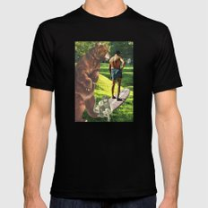 Don't Be Afraid To Take Chances, Young Or Old..... Black MEDIUM Mens Fitted Tee