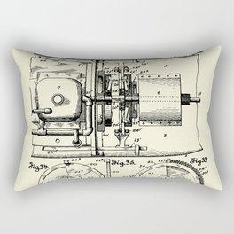 Submarine Torpedo Boat 11-1910 Rectangular Pillow