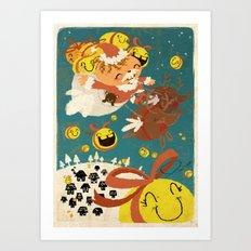 Merry Smiley Christmas to EVERYONE! Art Print