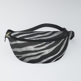 Ripped SpaceTime Stripes - Black/White Fanny Pack