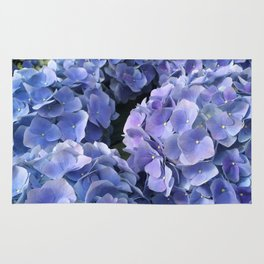 Flower Photography | Blue flowers | Spring | Sapphire | Tropical Rug