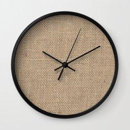Burlap Texture Wall Clock