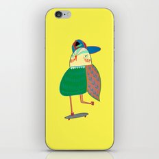 Skateboarding Owl. iPhone & iPod Skin