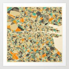 DUBLIN MAP Art Print