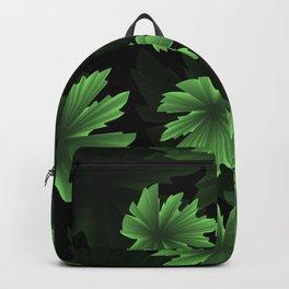 Green grape leaves in volumetric effect Backpack