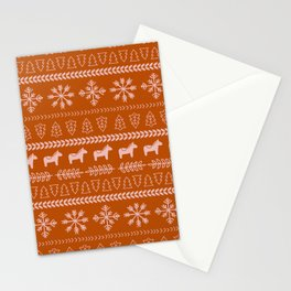Scandinavian Christmas in Orange Stationery Cards