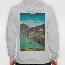 Lake Diablo - Blue and Green Water and Trees Hoody