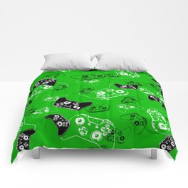 Video Game Green Comforters