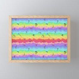 Emoji cloudy day Framed Mini Art Print