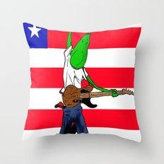 Bruce Stringbean Throw Pillow