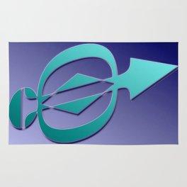 Arrow blue Rug