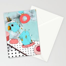 Cockatoo Making Muffins  Stationery Cards