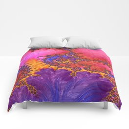Fractual in Hot Pinks and Purples Comforters