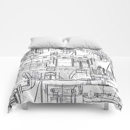 Engineered Sketch Comforters