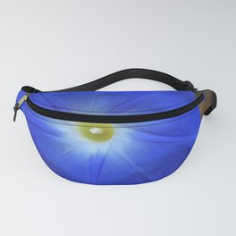 Blue, Heavenly Blue morning glory Fanny Pack