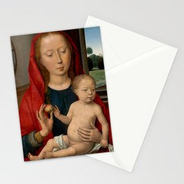 """Hans Memling """"Virgin and Child"""" (5) Stationery Cards"""