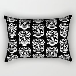 Tiki Pattern Black & White Rectangular Pillow