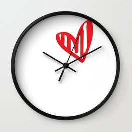 I Love My Crazy Husband Valentines For Lovers Wall Clock