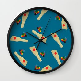 Hanetsuki Japanese Traditional Game Design Pattern Wall Clock