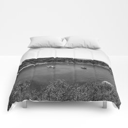 Rhodes Greece Anthony Quinn Bay black white Comforters