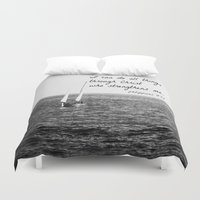 christ Duvet Covers featuring Philippians 4:13 Christ by KimberosePhotography