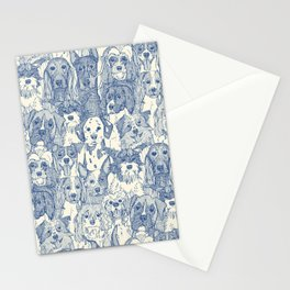 dogs aplenty classic blue pearl Stationery Cards