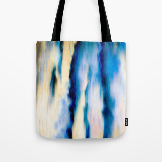 Abstract Blue Falling Water Tote Bag