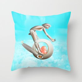 Time Barney girl and horny Robo Throw Pillow