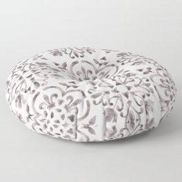 Light Wash Bloodstone - Watercolor Moroccan Tiles Floor Pillow