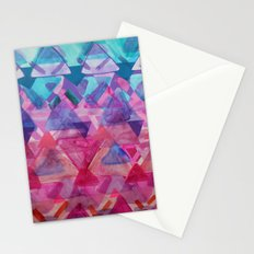 Overlapping Triangles 3 Stationery Cards
