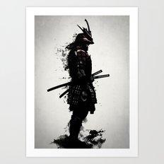 Armored Samurai Art Print