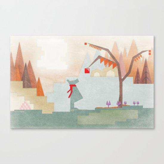 Fashionable Bear Canvas Print