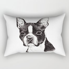 Boston Terrier Portrait Rectangular Pillow