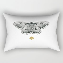 Perseverance - Moth Graphite Drawing by Brooke Figer Rectangular Pillow