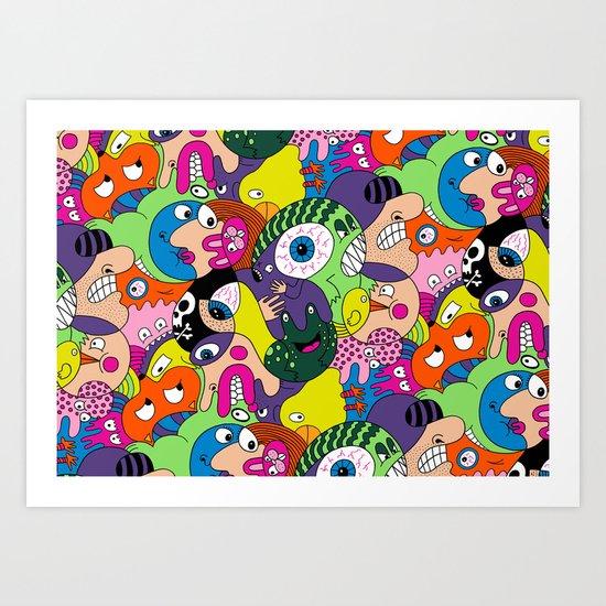 Alien Pattern Art Print