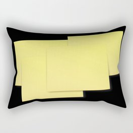 The Devil is in the detail: Post-it 2 dark Rectangular Pillow