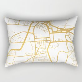 BELFAST UNITED KINGDOM CITY STREET MAP ART Rectangular Pillow
