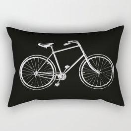 Bike on black Rectangular Pillow