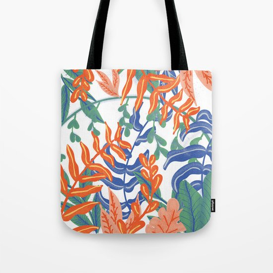 Abstract Tropical Pattern Tote Bag
