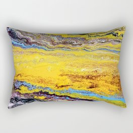 African landscape, acrylic on canvas Rectangular Pillow