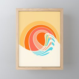 Sun Surf Framed Mini Art Print