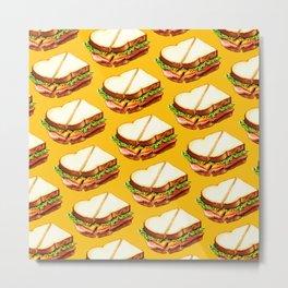 Ham Sandwich Pattern Metal Print